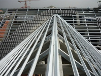 Lắp dựng nhà xuởng văn phòng khung thép tiền chế