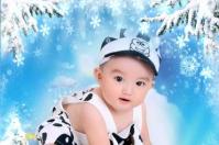 PSD - Lịch năm 2013 & Khung Hình em bé