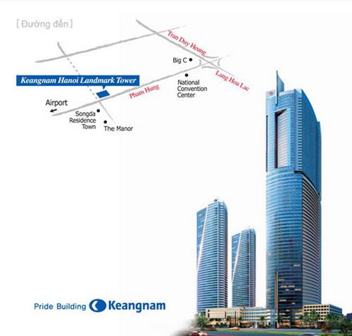 Cho thuê chung cư Keangnam nhiều căn giá rẻ