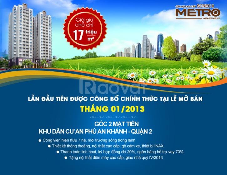Metro Aparment Căn Hộ CC giá shock 17trieu/m2