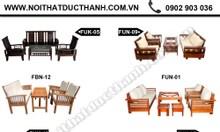Salon gỗ, bàn ghế phòng khách giá rẻ