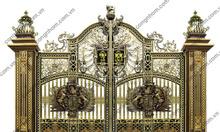 Cửa cổng, cua cong, cổng nhôm đúc