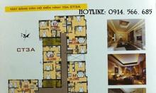Bán chung cư CT3 cổ Nhuế giá 22- 22.5tr/m2 (VAT)
