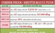 Corner Pizza - Giảm giá 30% pizza cỡ lớn