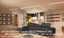 Sofa góc, sofa nk, sofa da thật: CK20%0943974000