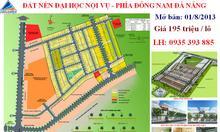 Đất nền Đông Nam Đà Nẵng giá 195 triệu