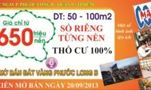 Khu đất vàng 650tr SHR TT q.9, P. Phước Long B