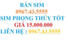 Bán sim 0967435555 trả trước chính chủ