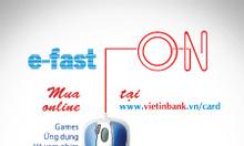 Thẻ Visa Ảo virtual card E fast On của Vietinbank