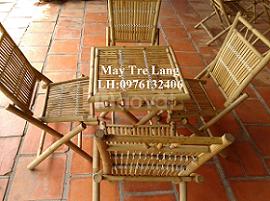 Làm bàn ghế tre tự nhiên, bàn ghế tre ép