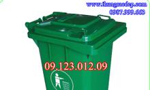 Thùng rác nhựa có bánh xe, nắp đậy 120L