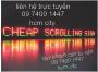 Thi công bảng hiệu đèn led-Hộp Đèn - Bảng Hiệu