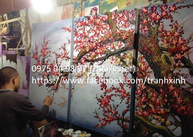 Nhận vẽ và chép tranh sơn dầu giá rẻ