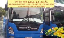 Vé xe Tết TPHCM về Huế, Đà Nẵng, Quảng Trị, Quảng Bình