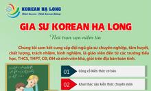 Gia sư Korean Hạ Long