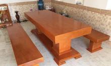 Bàn ghế gỗ sao cao cấp nguyên tấm