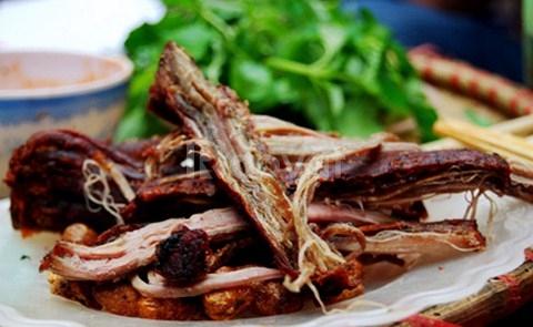 Thịt trâu gác bếp Sơn La
