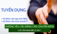 Tuyển dụng nhân viên lập trình web tại Bắc Ninh