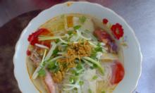Bún chả cá bé em Nha Trang