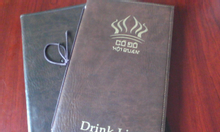Menu nhà hàng, menu bìa da, menu khách sạn,