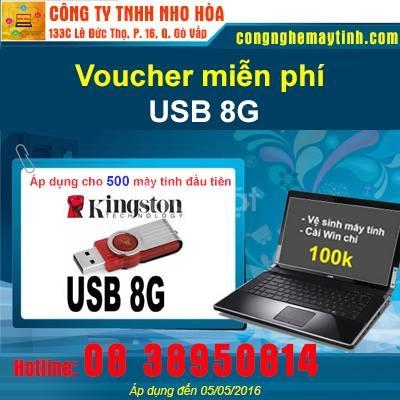Khuyến mãi hot được tặng USB 8GB Kingston