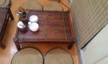 Thanh lý bàn tre đệm cói dùng cho quán cafe