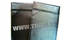 Cơ sở sản xuất bìa hồ sơ, in logo lên bìa menu da