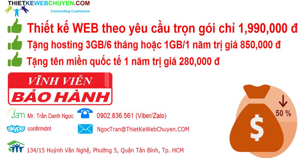 Thiết kế web theo yêu cầu CHỈ 2tr 0902.836.561