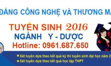 TUYỂN SINH CAO ĐẲNG Y DƯỢC 2016