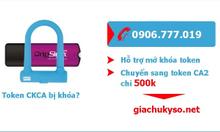 KM Chữ ký số cho Token CKCA bị khóa mã Pin!