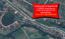 1.100m2, thôn Đại Lan,Thanh Trì, HN giá 5tr/m