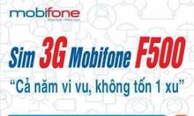 Sim 3G mobi F500 miễn phí 4Gb/tháng giá 299K