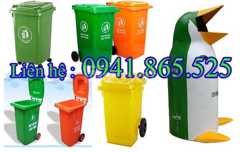 Thùng rác nhựa, thùng rác 120 lít 240 lít