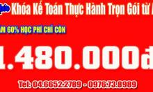 Học kế toán thực tế tốt nhất tại Tri Thức Việt