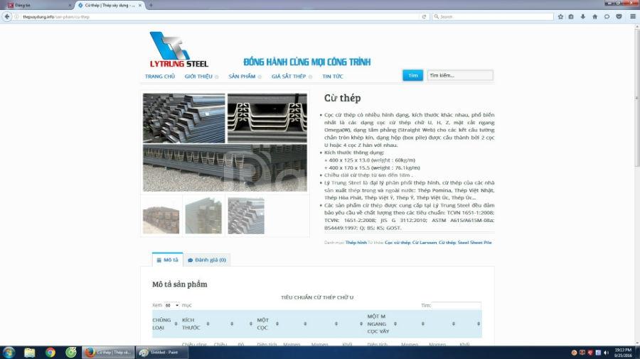 Cần bán website http://thepxaydung.info