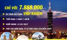 tour du lịch đài loan trọn gói giá 7.888.000 vnđ