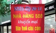Bia hơi Hà Nội 508 Nguyễn Văn Cừ bán 5k/cốc bia