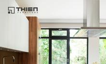 View mẫu tủ bếp Laminate đẹp cho nhà chung cư
