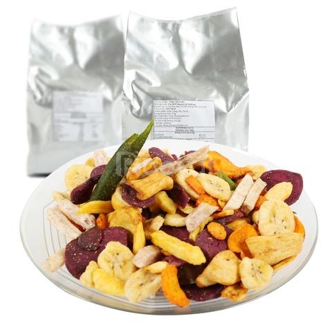 Hoa quả sấy thập cẩm hợp vệ sinh an toàn thực phẩm