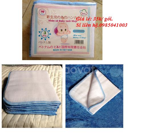 Bán buôn bán lể khăn sơ sinh. khăn tắm sơ sinh