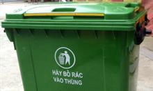 Xe gom rác tôn, xe gom rác nhựa HDPE giá rẻ
