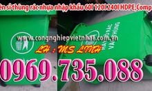 THANH LÝ GIÁ VỐN THÙNG RÁC NHỰA 60L 120L 240L
