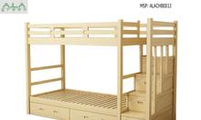 Giường gỗ 2 tầng an toàn cho bé