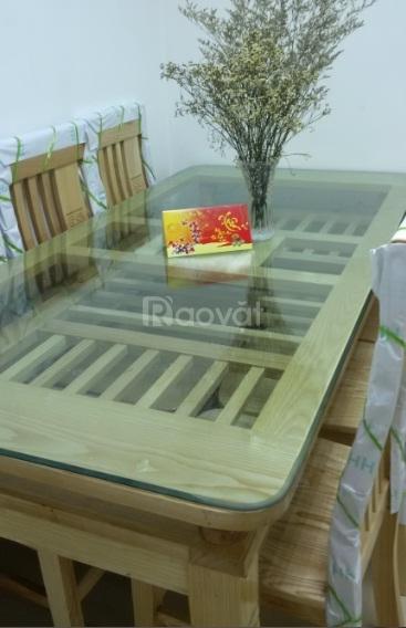 Bộ bàn ăn gỗ sồi tự nhiên