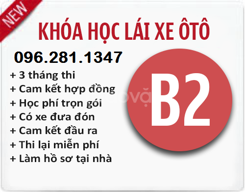 Đào Tạo Sát Hạch Lái Xe Ô tô hạng B2 - 0962811347