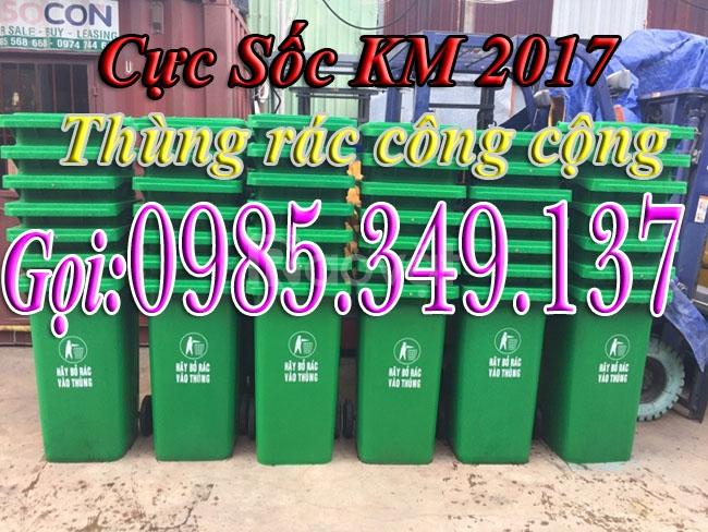 Thùng rác công cộng 120 lít,240 lít