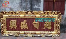 Làm hoành phi câu đối gỗ sơn son thếp vàng