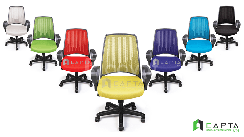 Ghế văn phòng chân xoay giá rẻ dành cho nhân viên