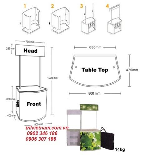 Booth lắp ráp- Quầy nhựa lắp ráp- Bàn lắp ráp