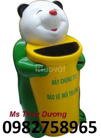Thùng rác con gấu, thùng rác nhựa HDPE giá rẻ